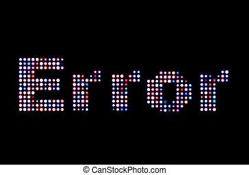 Error led text