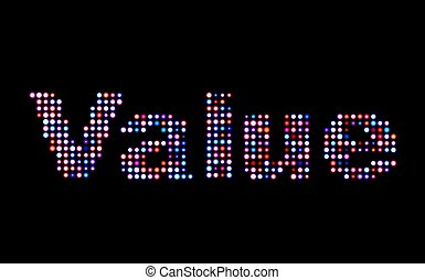 value led text
