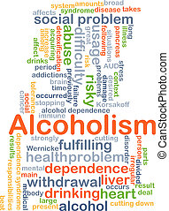 Alcoholism background concept