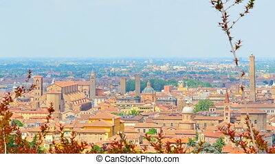 bologna skyline cathedral - bologna,saint petronio cathedral...