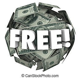 Free Money Ball Sphere Word Bonus Special Offer Deal