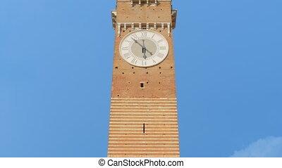 verona lamberti tower tilt italy