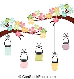 floral decoration design, vector illustration eps10 graphic...
