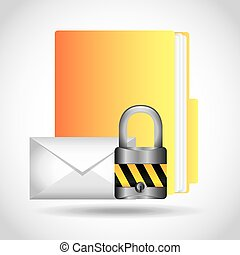 data security design, vector illustration eps10 graphic