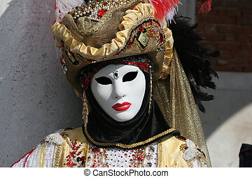 Venetian mask - One of the masks in Venice carnival