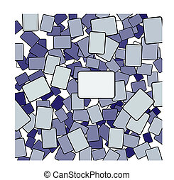 Card Chaos rectangle shapes group - Card Chaos as a jumbled...