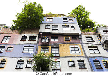 Hundertwasserhaus Hundertwasser House in Vienna - The...