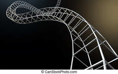 Abstract Contruction Spiral - An abstract strand of a thread...