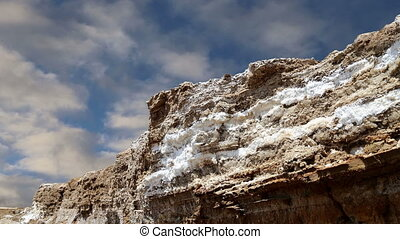 dead sea salt at Jordan, Middle East