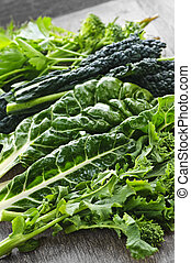 Dark green leafy vegetables - Dark green leafy fresh...