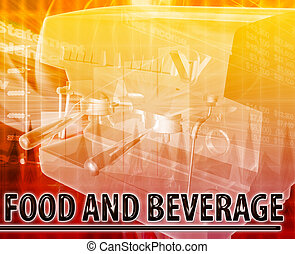 Food & Beverage Abstract concept digital illustration -...