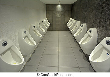 Urinals Men public toilet - In door urinals men public...