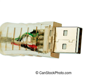 usb cable against a white background - usb cable, symbolfoto...
