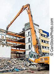 demolition of an office building - one older office building...