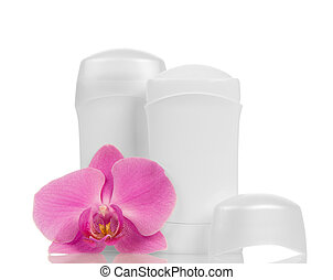 Deodorants and orchid flower - Deodorants and pink orchid...