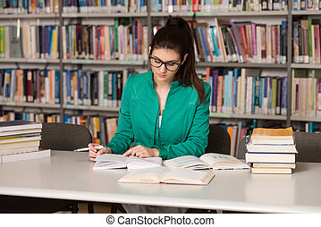 Young Student Studying At College - Portrait Of Clever...