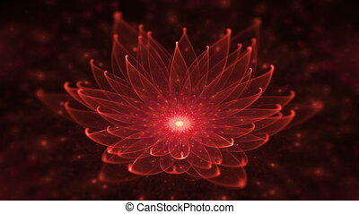 Red Lotus, Water Lily, Meditation - Space flower, red lotus,...