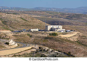 Israeli police headquarters near Maale Adumim Israel -...