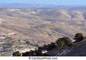 Landscap of the Judaean Desert from Maale Adumim, iSRAEL
