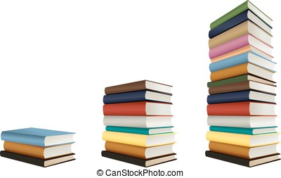stacks of books, vector