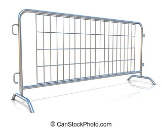 Steel barricades. - Steel barricades, isolated on white...