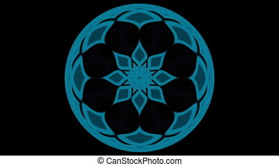 Movement of blue substances - Flickering colored glass bowl...