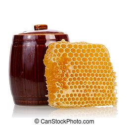 Honey comb with pot