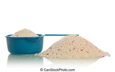 Washing powder in measuring cup