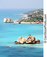 Rock of Aphrodite place in Cyprus said to be the birthplace...