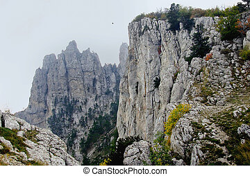 mountain Ai-Petri in Crimea - landscape on the mountain...