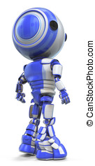 Robot Looking Over Shoulder