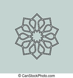 Round pattern in Arabic style. Vector EPS10