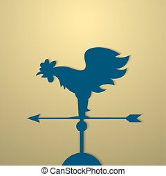 Rooster weather vane Vector EPS10