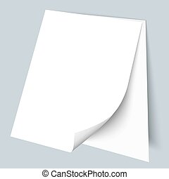 Two blank sheets of paper