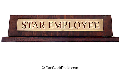 Star Employee name plate - Star Employee wooden nameplate...