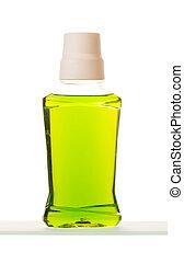 Mouthwash bottle on a white background - Mouthwash bottle...