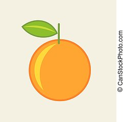 Orange fruit icon Vector illustration