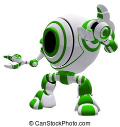Small Robot Defense Pose - A small robot in a defensive...
