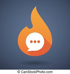 Flame icon with a comic balloon