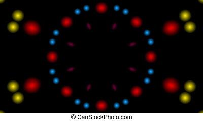 flicking bokeh kaleidoscope - Multicolored flicking bokeh...