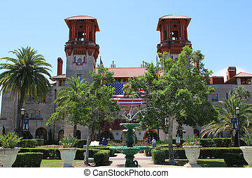 Facade of Flagler College in St Augustine, Florida