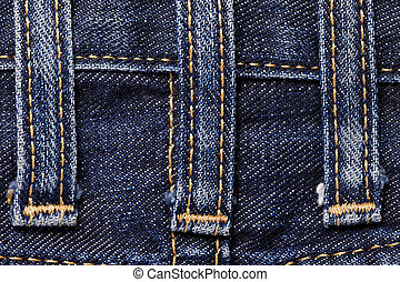 Jeans close-up seam texture - Jeans close-up of texture seam...