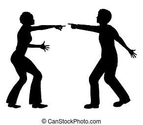 Marital Quarrel - Concept sign of the body language of man...