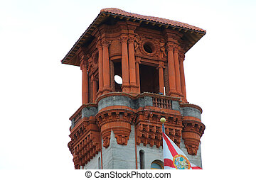 Facade of Flagler College in St Augustine