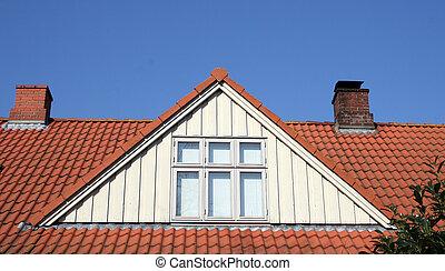 dach, Strych, zamiana, Okno mansardowe