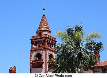 Facade of Flagler College in St Augustine - Historic Flagler...