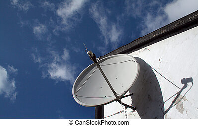 satellite dish antenna - satellite dish on facade. antenna...