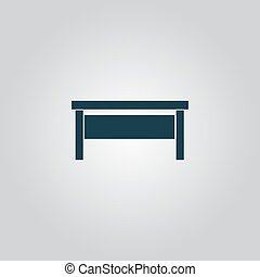writing desk - Writing desk Flat web icon or sign isolated...