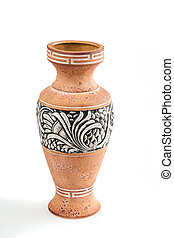 Highly decorative ceramic flower vase decorated with a...