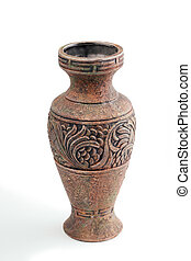 Highly decorative ceramic flower vase decorated with a beautiful